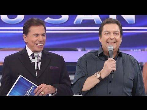 Faustão no programa Silvio Santos