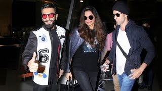 Airport Spotting 28th Nov 2016 - Ranveer Singh,Deepika Padukone,Hrithik Roshan