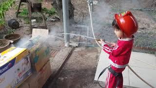 Trò Chơi Bé Tập Làm Lính Cứu Hỏa Đi Chữa Cháy, Đồ Chơi Trẻ Em Xe & Đồ Cứu Hỏa   Kids Toy Media