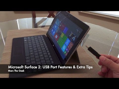 Microsoft Surface 2: USB Port Features & Extra Tips