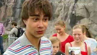 Alexander Rybak and Malin Johansson - Backstage