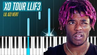 "Lil Uzi Vert - ""XO TOUR Llif3"" Piano Tutorial - Chords - How To Play - Cover"