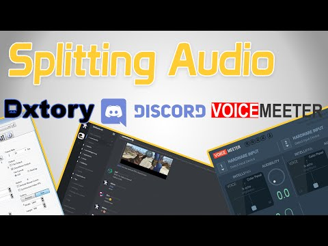 Split your audio! Discord. Dxtory and Voicemeeter!