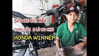Sửa xe Cùi Bắp _ ráp nồi winner _ rebuild clutch honda winner