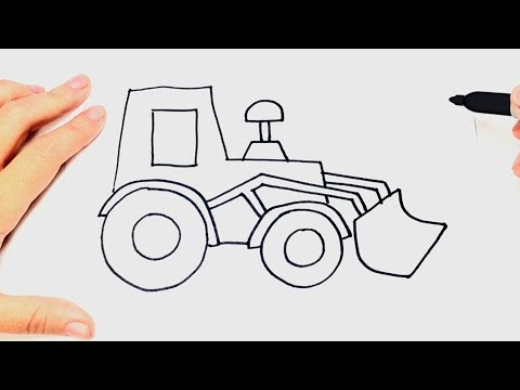 How to draw a Tractor Step by Step | Tractor Drawing Lesson