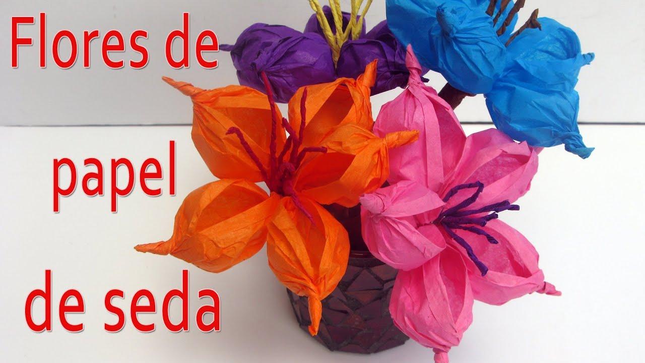 Manualidades c mo hacer flores de papel manualidades - Plantas para hacer setos ...