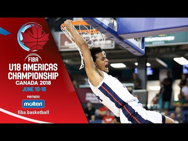 USA v Canada - Final - Re-Live ENG - FIBA U18 Americas Championship 2018