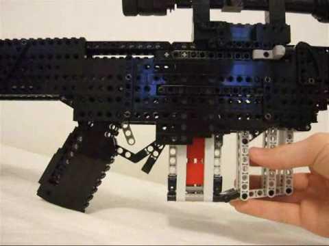Barrett M82A1 .50 cal bolt action sniper rifle (lego)