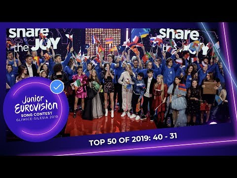 TOP 50: Most watched in 2019: 40 TO 31 - Junior Eurovision Song Contest