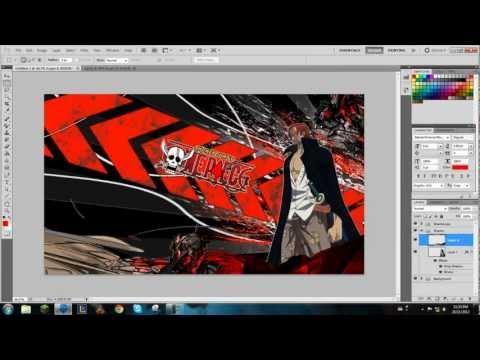 One Piece Speed Art - Red Hair Shanks Desktop Background [1600x900] ᴴᴰ video