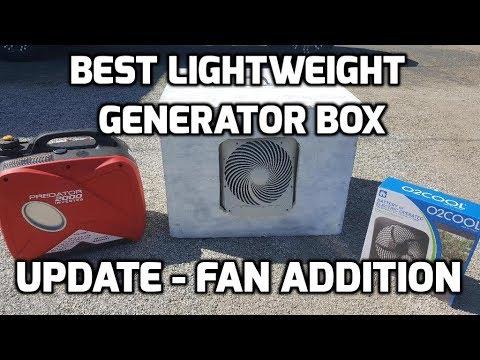 Best Lightweight Generator Quiet Box UPDATE Fan Install