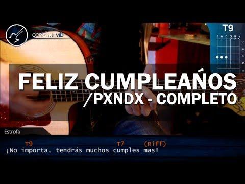 Como tocar Feliz Cumpleaños - PANDA - en Guitarra Acustica (HD) Tutorial COMPLETO