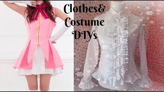 DIY Anime Cosplay Costume + DIY Lolita Fashion Inspired Blouse (Re-upload)