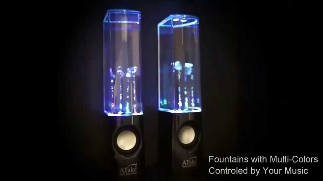 The Most Awesome Water Light Show Speakers Youtube