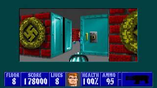 [MS-DOS] Wolfenstein 3D - Floor 8 (Episode III)