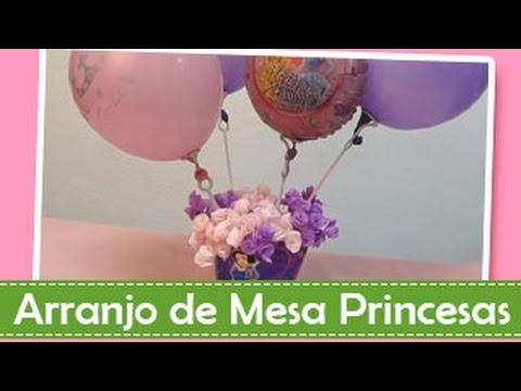 Como Fazer um Arranjo de Mesa Princesas