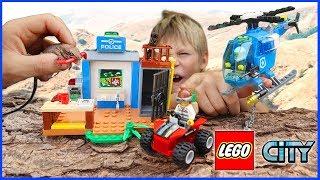 Lego City REAL LIZARD Jail Break - Mountain Police Chase Set