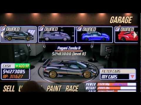 Drag Racing 7.889 Pagani Zonda R LVL 8 TUNE