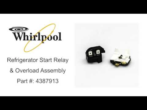 Whirlpool Refrigerator Start Relay & Overload Assembly Part #:4387913