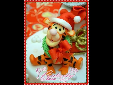 Tutorial Tigro Winnie The Pooh In Pasta Di Zucchero Torta Natale video