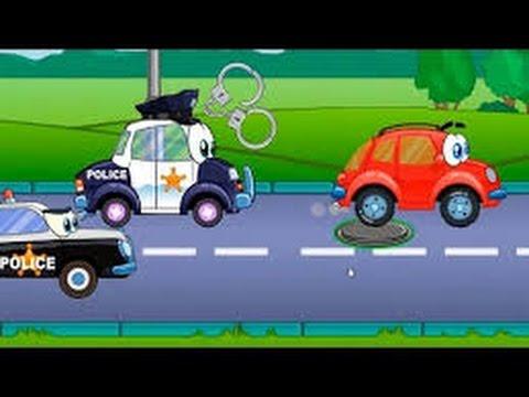Мультфильмы машинки - Машинка Висти Вилли и Полицейская машина у видео для детей Гонки