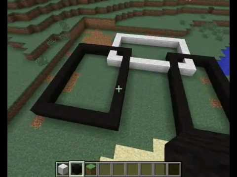 Tuto cr er une maison moderne minecraft youtube for Plan maison minecraft moderne
