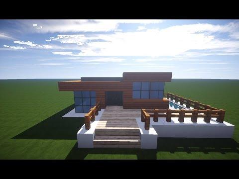 Minecraft Modernes Haus Mit Wintergarten Braunweiß Bauen Tutorial - Minecraft grobes haus bauen anleitung