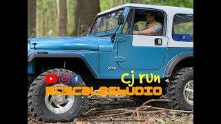 RcScalestudio 1/10 rc Jeep Cj amazing scale run