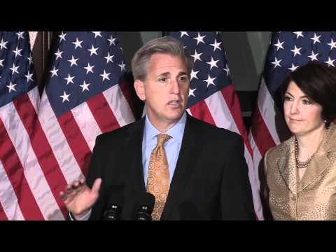 House Majority Whip Kevin McCarthy At A Weekly House Republican Leadership Press Conference 3/6/12