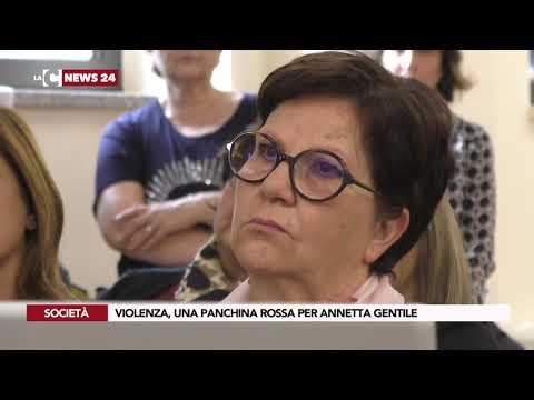 VIOLENZA, UNA PANCHINA ROSSA PER ANNETTA GENTILE
