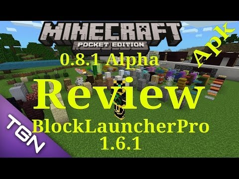 Minecraft Pe 0.8.1 y BlockLauncherPro1.6.1 Review Español