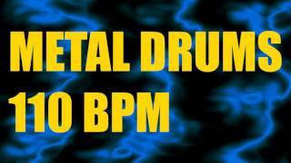 Metal Drums Only // 110BPM // Drum Backing Track