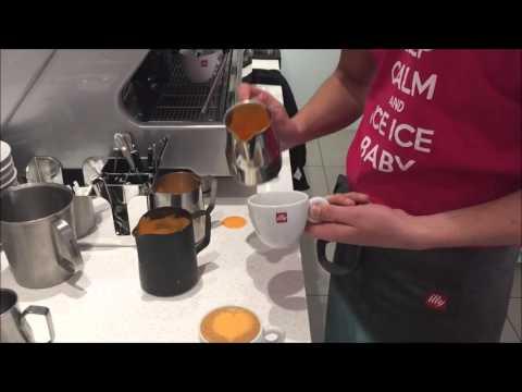 Oranje Cappuccino speciaal voor koningsdag | Colored Latte art By Barista Thomas