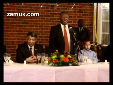 Part 1 -. Dinner with H.E Michael Sata in London.06062012 wmv