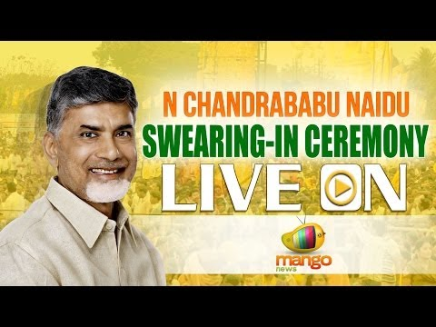 N Chandrababu Naidu swearing in ceremony LIVE