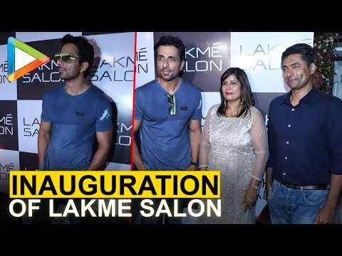 Sonu Sood at the Inauguration of Lakme Salon in Versova