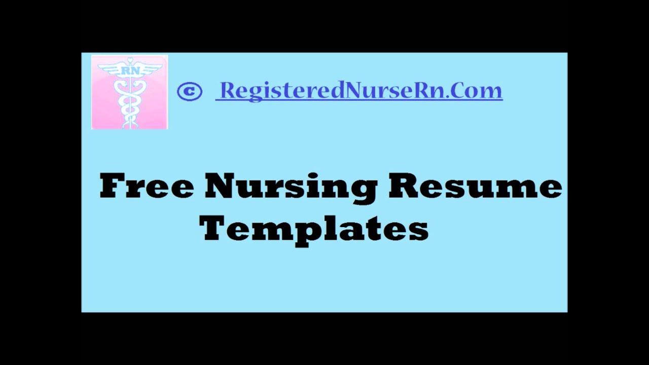 Free Cv Templates Nursing