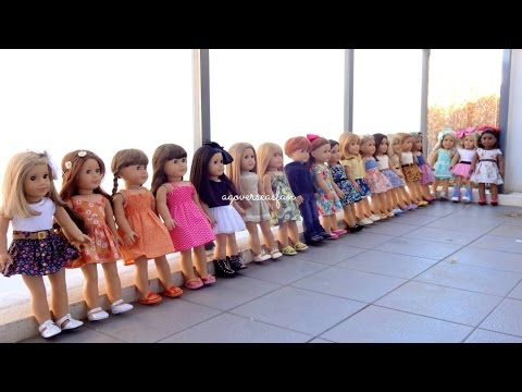 All My American Girl Dolls ~ Summer 2014 ~ Hd Please Watch In Hd ~ video