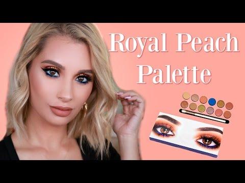 Kylie Cosmetics Royal Peach Palette Tutorial   Nicol Concilio