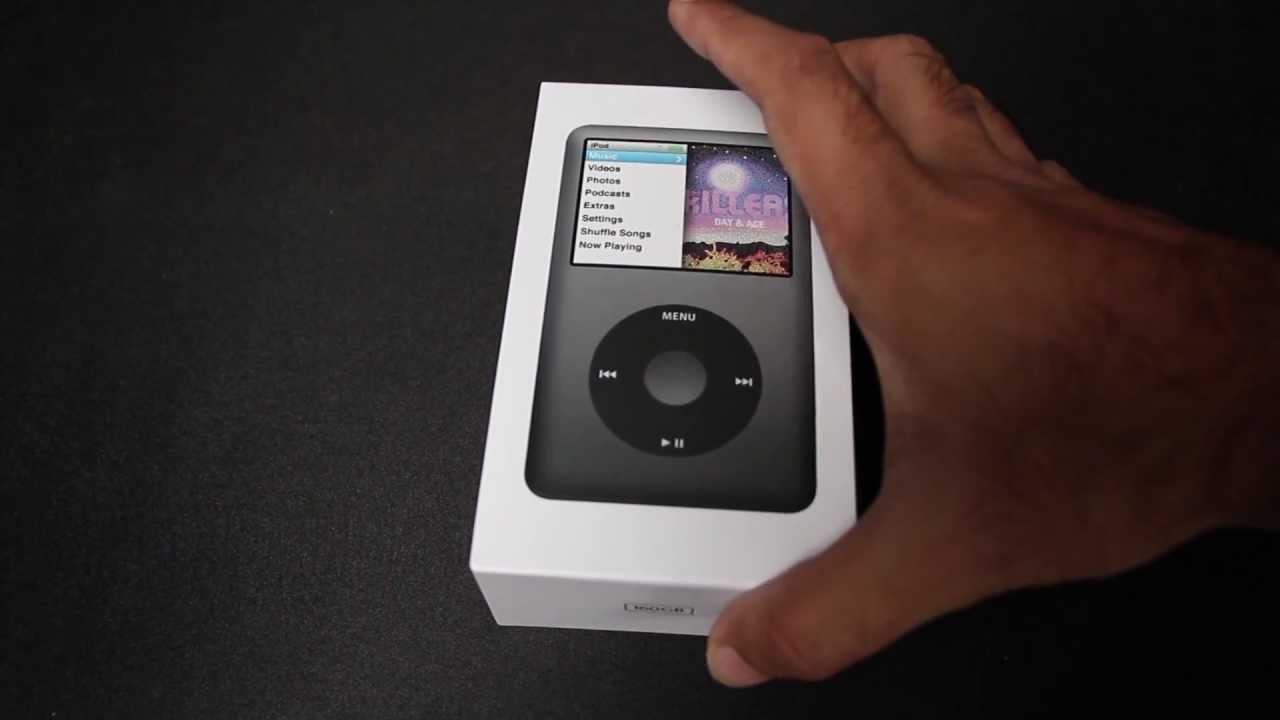 apple ipod classic 160gb unboxing youtube. Black Bedroom Furniture Sets. Home Design Ideas