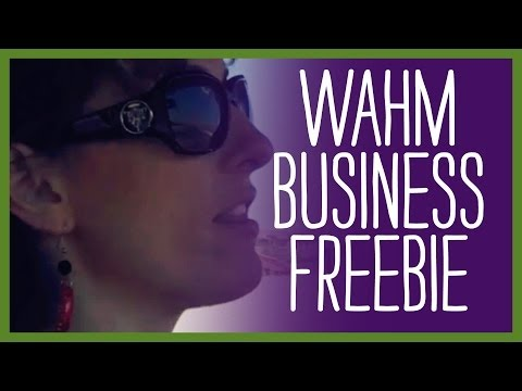 Major purchase on your behalf - WAHM Business Freebie