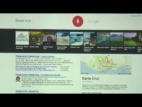 Raw video: Demo of Google's new voice command search