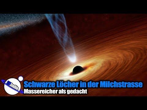Schwarze Löcher in der Milchstrasse: Massereicher als gedacht