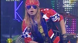 "Yo soy AXL ROSE 8-08-2012 peru - ""WELCOME TO THE JUNGLE""  Yo soy 8 agosto.  yo soy peru"