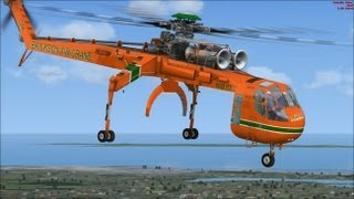FSX HD - SKYCRANE Helicopter by Nemeth Designs