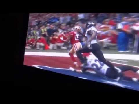 49ers vs Ravens Superbowl 47 New Orleans End of the Game Play Holding No Call