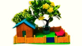 Doll House From News Paper Tubes Make Paper Doll House   Easy paper house craft   Paper House DIY