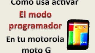 Moto G: Como utilizar - Activar el modo desarrollador en tu motorola moto g