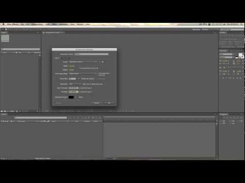 After Effects'e Giriş – Ders 1