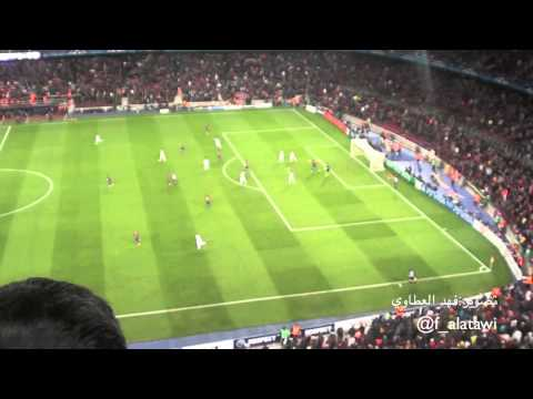 Barcelona vs Chelsea| Stadium footage: Torres goal + celebration